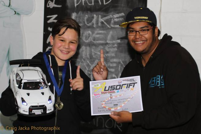 Round 2 RWD 1st place: Luke Veersma & Competition Director: Soorian Ang, Photo: Craig Jacka